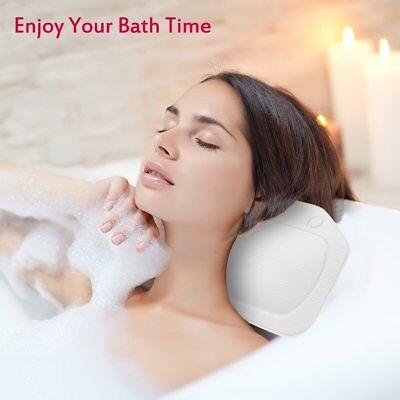 Hot Comfortable Relaxing Cushioned Bath Spa Pillow Head Neck Rest Bathtub Pillow