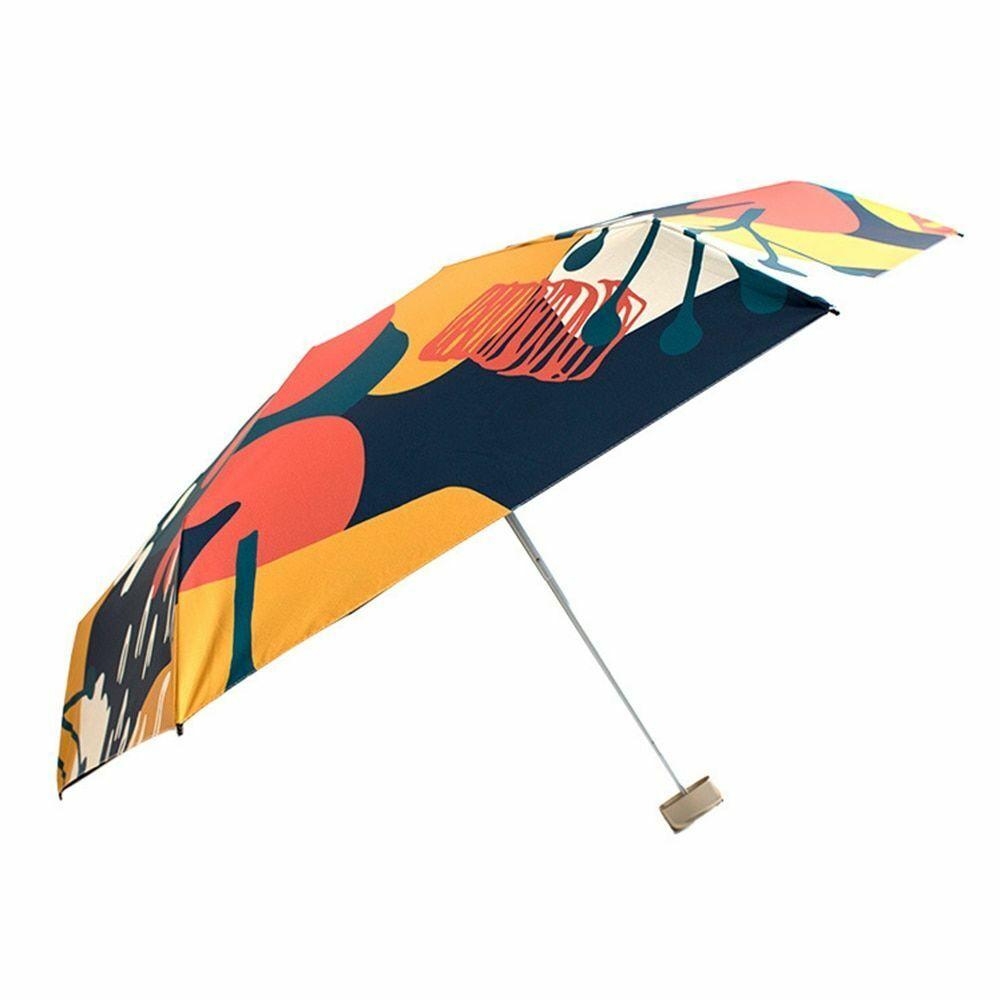 New Flat Mini UV Protection Parasol Girl Sun Umbrellas Windp