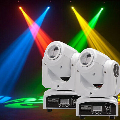 2PCS 30W RGBW Beam LED Moving Head GOBO Stage Light DMX Disco DJ Party (2 Moving Head)