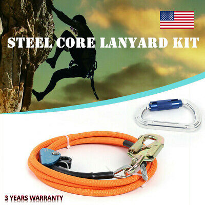 12 X 10 Feet Steel Core Lanyard Kit Swivel Snap Flipline Flip Line Fast Ship