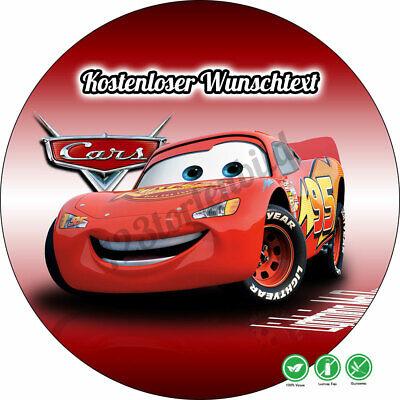 Tortenaufleger Geburtstag Tortenbild Zuckerbild Oblate Disney Cars 035 ()