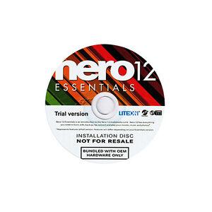 NERO 12 Essentials OEM Trail Version / DVD /  CD Bluray Brennprogramm /Vista/7/8