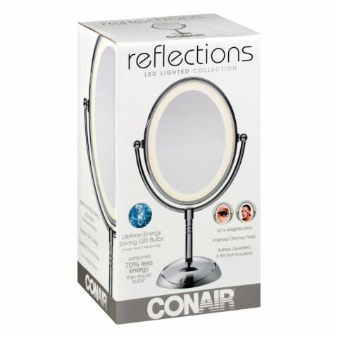 Conair Lighted Makeup Mirror Double Sided Vanity Mirror 7x