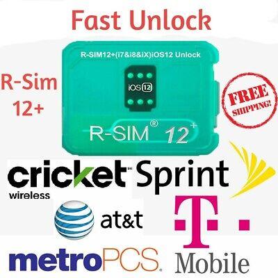 RSIM 12+ Plus 2019 R-SIM Nano Chip Unlock Card for iPhone X/8/7/6/6s 4G iOS 12.3
