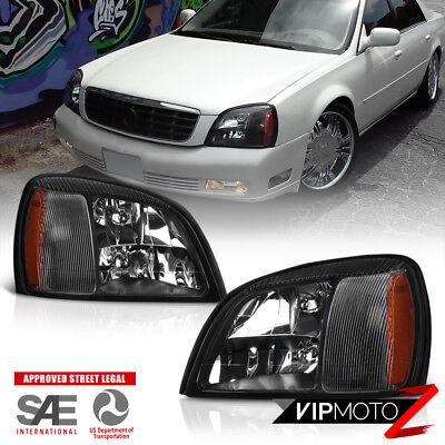 2000 2001 2002 2003 2004 2005 Cadillac DeVille Headlights Headlamps LEFT+RIGHT