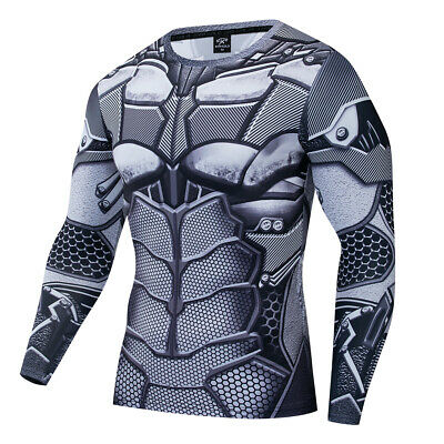 Batman Tights (Superhero Batman Costume Cosplay Compression Tights Quick-Drying T-Shirt)