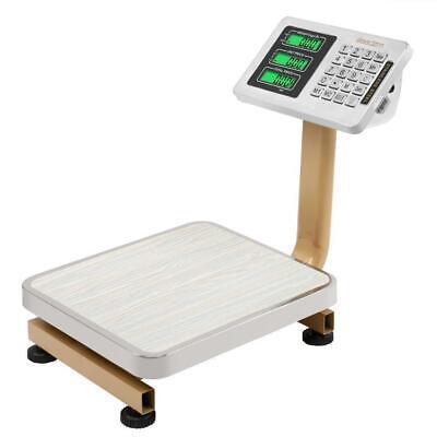 80kg X 0.01kg Lcd Digital Floor Scale Postal Shipping Platform Stainless Steel