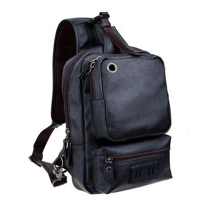 Zebella Mens Unbalance Chest Pack Multipurpose Backpack Crossbody Shoulder Bag