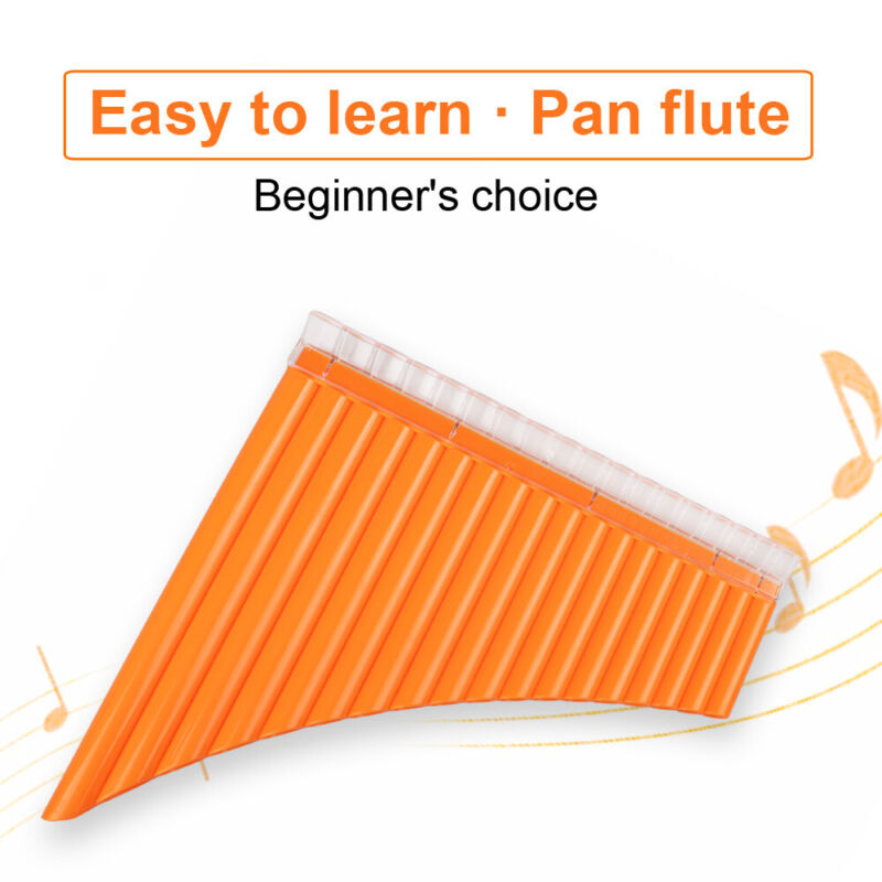 Panflutes Panpipe 18 Pipes C Tone Music Woodwind Instrument Easy Learning w/ Bag