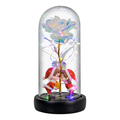 Romantic Galaxy Rose Luminous Flower in the glass dome Valentine
