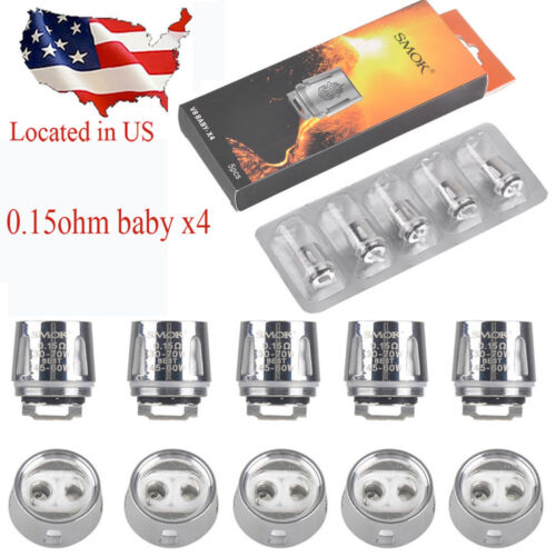 1Pack  5Pcs V8 - X4 BABY Smok TFV8 BIG Cloud Beast Replacement Coil US Stock……