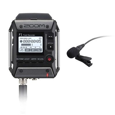 Zoom F1-LP 2-Ch Field Audio Recorder w/ Omnidirectional Lavalier Microphone