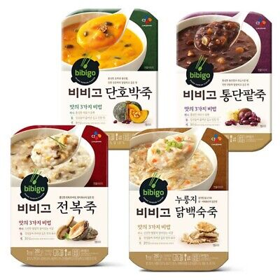 [CJ CheilJedang] BIBIGO Korean Porridge 4 kinds