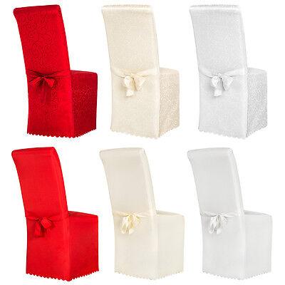 Stoelhoezen hoezen stoelbekleding stoelhoes bruiloft met strik versiering