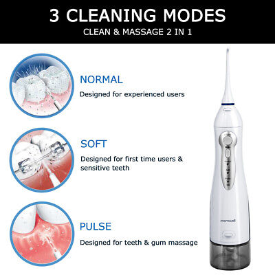 Water Flosser Dental Teeth Cleaning Oral Irrigator Flossing 300ml Water Jet Tank