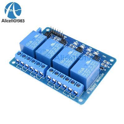 5v Four 4-ch Channel Relay Module With Optocoupler For Pic Avr Dsp Arm Arduino