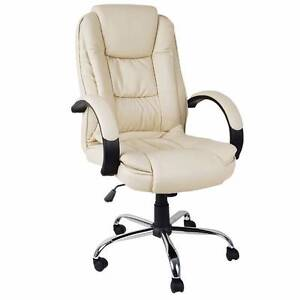 Executive PU Leather Office Computer Chair Beige Castle Hill The Hills District Preview