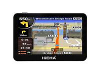 "Hieha 4.3"" Inch Car Bus GPS SAT NAV SpeedCam Lifetime EU UK Maps 8GB"