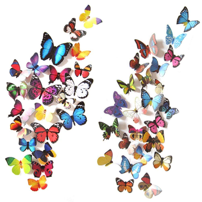 80 pcs wall decal butterfly sticker decals