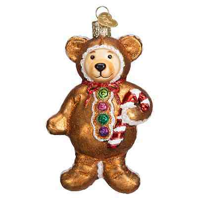 """""""Gingerbread Teddy"""" (12439) Old World Christmas Glass Ornament"""