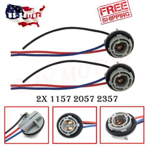 2PCS 1157 Turn Light Brake Bulb Socket Connector Wire Harness Plug For LED Bulbs Car & Truck Parts