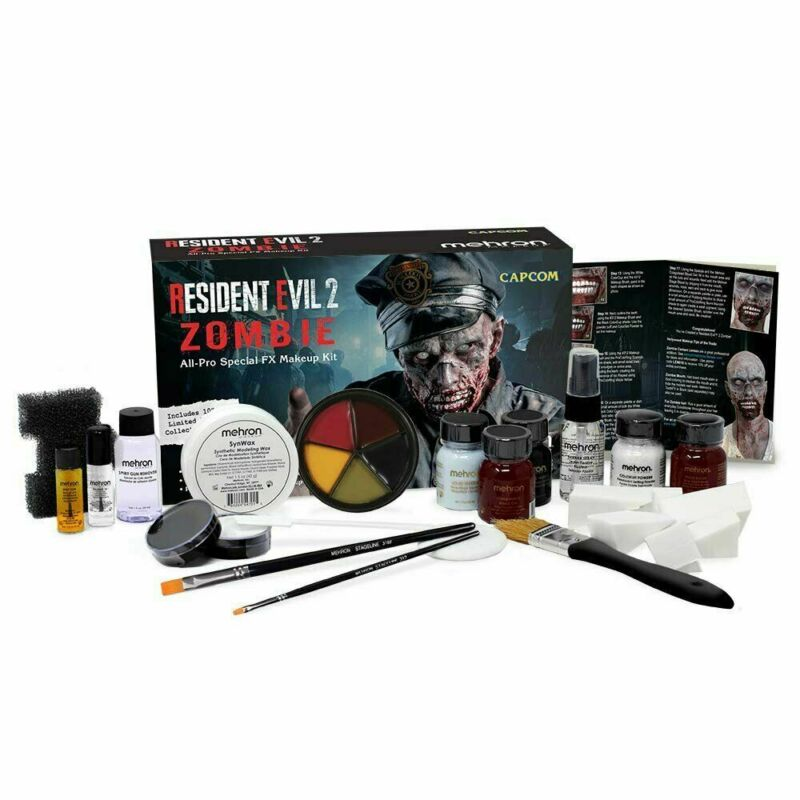 Mehron Resident Evil 2 Zombie All-Pro Special FX Makeup Kit Face Paint Set