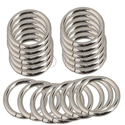 Metal O Ring Non  Nickel Plated Set of 20 Silver