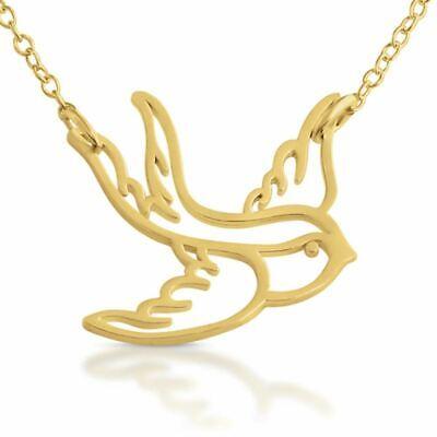Azaggi Gold Plated Necklace Swallow Pendant Big Flying Bird Women Jewelry Gift Bird Pendant Gold Plated Jewelry