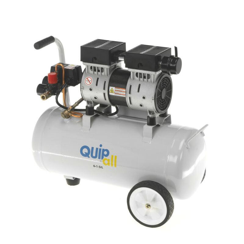 Quipall 1 HP 6.3 Gal. Oil-Free Wheelbarrow Air Compressor 6-1-SIL New