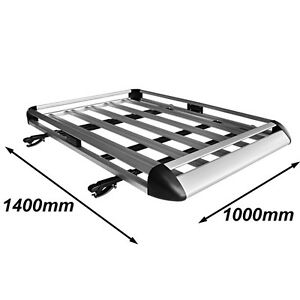 Universal-Aluminium-Roof-Rack-Luggage-Basket-Cage-with-Cross-Bars-1400-x-1000-mm