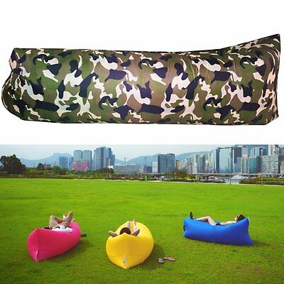 Air Filled Inflatable Lounger Balloon Portable Hangout Bag Sleep Sofa Camouflage