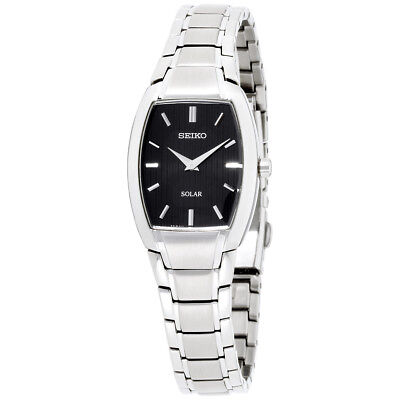 Seiko Core Black Dial Stainless Steel Ladies Watch SUP259