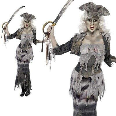 Ghost Ship Ghoulina Zombie Pirate Costume Lady Ladies Halloween Fancy (Ghost Lady Kostüm)