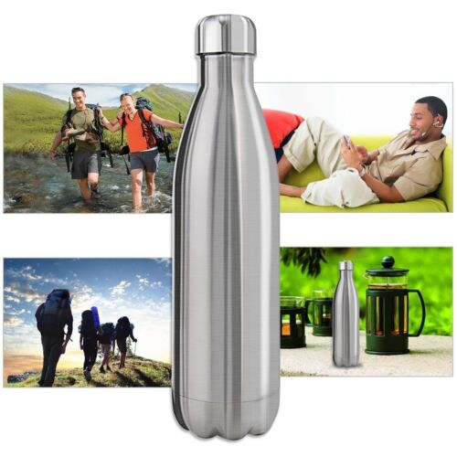Vacuum Stainless Steel Water Bottle Double Wall Insulated Thermos 500ml/17oz