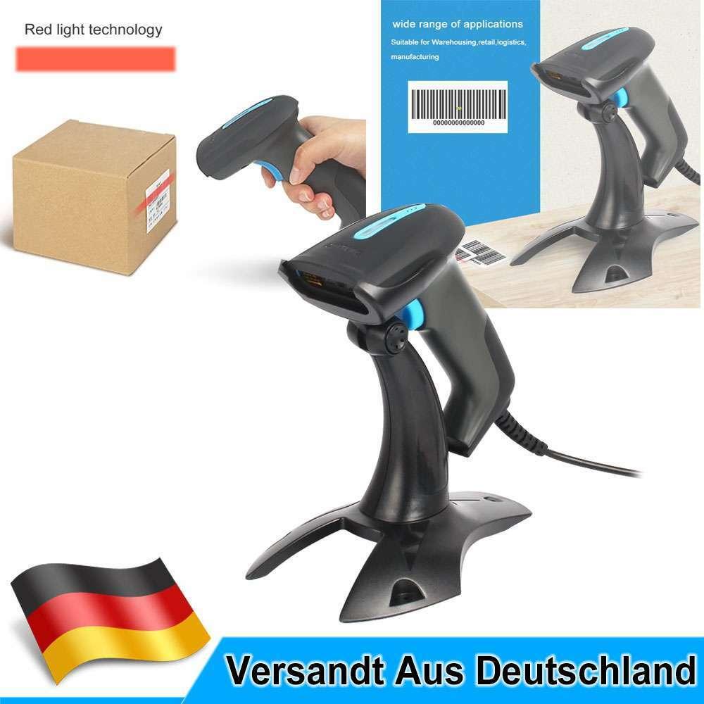USB Laser Barcode Scanner Handscanner Laser Scanner Barcodescanner mit Halterung