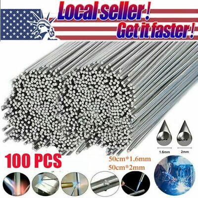 100x Aluminum Solution Welding Flux-cored Rods Wire Brazing Rod 50cm1.6mm2mm