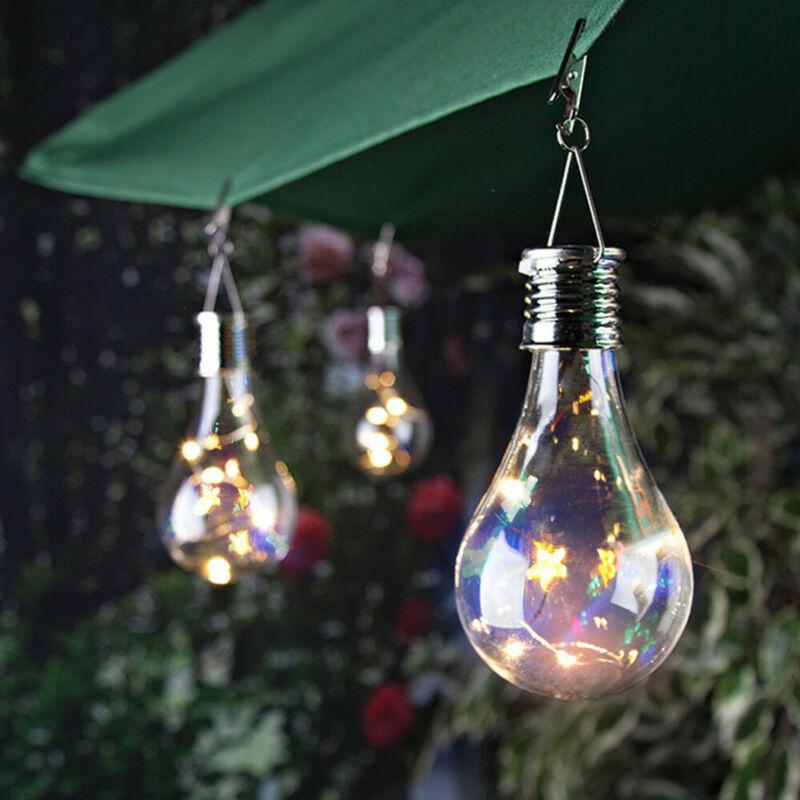 4 LED Solor Bulb Light String Outdoor Waterproof Garden Hang