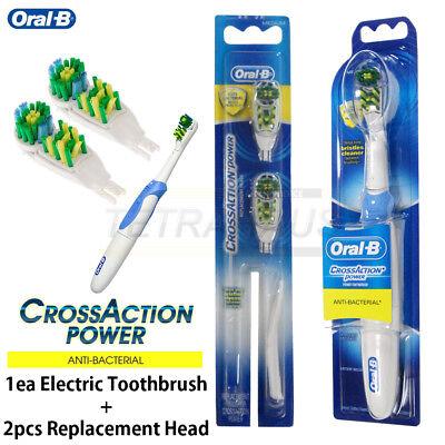 Braun Oral-B B1010 Electric Toothbrush & 2 Replacement Heads Medium Bristle.