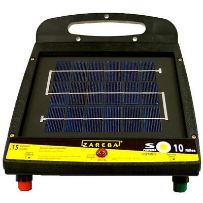 Zareba Electric Solar Fencer Low Impedance Rechargeable Battery Power Up-10 Mile