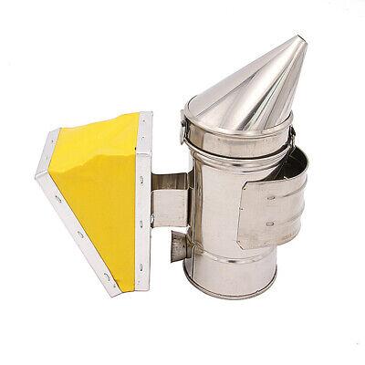 Bee Hive Smoker Stainless Steel Heat Shield Calming Beekeeping Bee Smoker N9m2