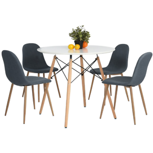 Amazing Kitchen Dining Table Vogue Carpenter Modern Round Leisure Wooden Chairs Not  Incl
