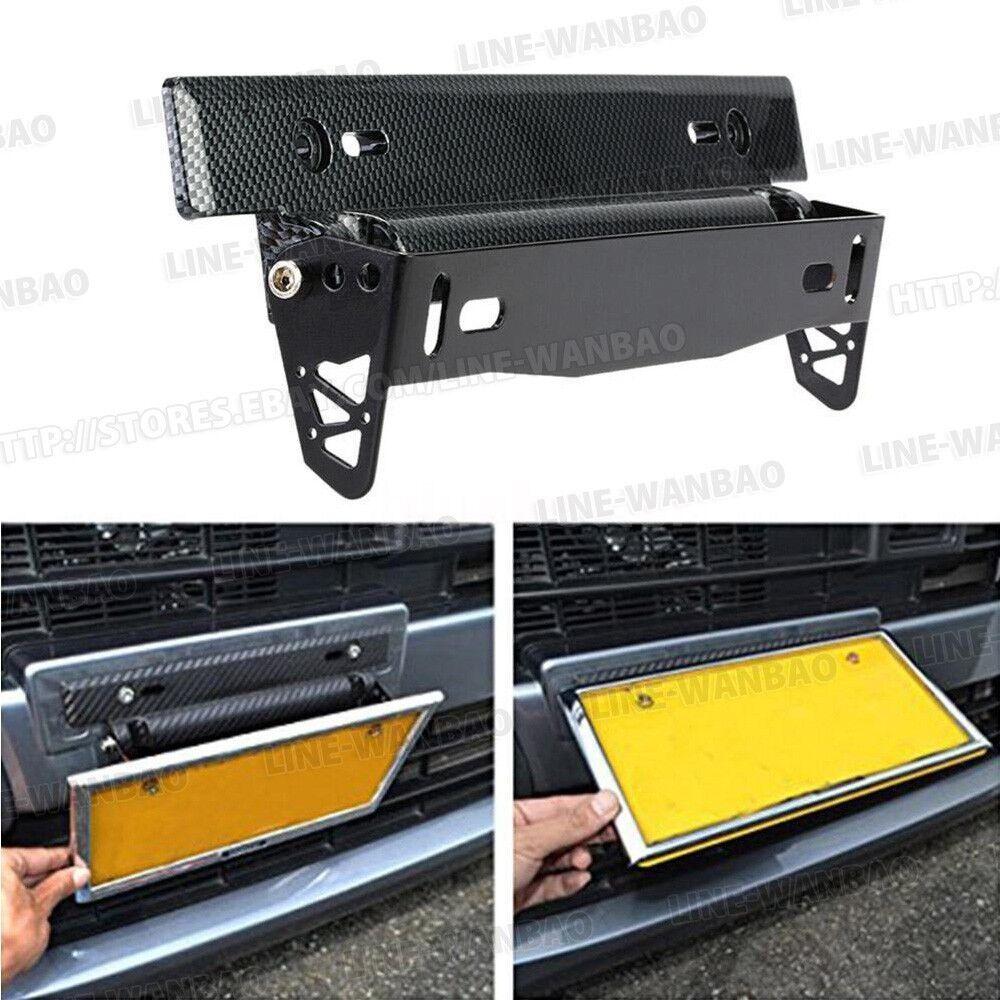 Universal Black Plastic Metal License Plate Frame Bracket Holder for Car Auto