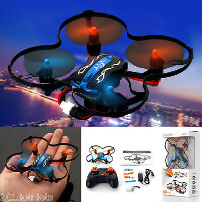 (US! MINI RC Quadcopter UFO 2.4GHz 4CH 6-Axis GYRO Nano Helicopter Drone RTF Toys)