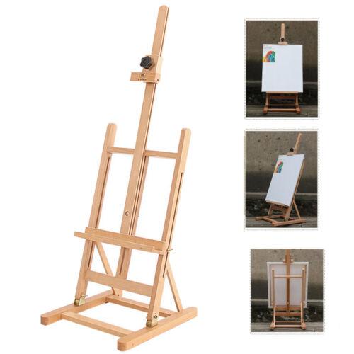 standing artist beech metal wood easel table