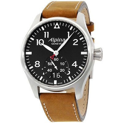 Alpina Startimer Pilot Blue Dial Leather Strap Men's Watch AL280N4S6