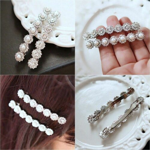 Jewelry Crystal And Pearl Head Wear Hairpin Hair Clip Bobby