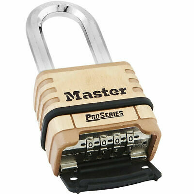 Master Lock 1175dlh Proseries Brass Resettable Combination Padlock 2-14 In Wide