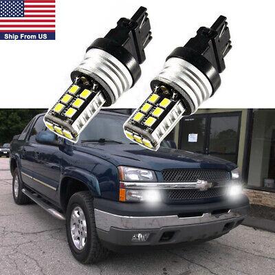 2x 3157 3156 White 15 SMD LED Bulbs Daytime Running Lights DRL for Chevrolet