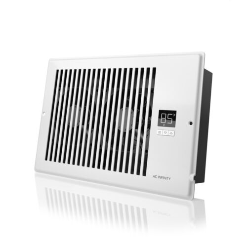 "AIRTAP T6, Quiet Register Booster Fan, Heating / Cooling 6 x 10"" Registers White"