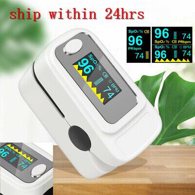Fingertip Oled Pulse Monitor Oximeter Blood Oxygen Spo2 Pr Pi Heart Rate Monitor